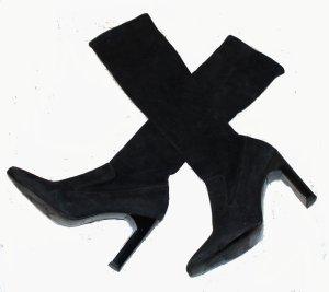 Gucci Bottes stretch noir daim