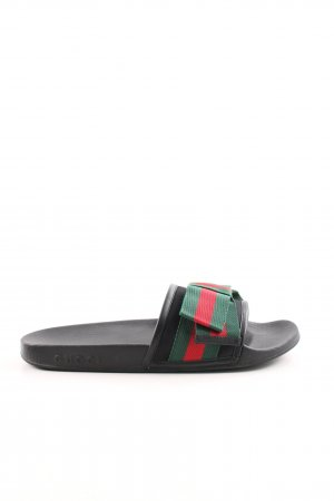 "Gucci Strandsandalen ""Satin Slide With Web Bow Black"""