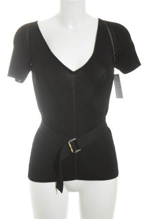 Gucci T-shirts en mailles tricotées noir style classique