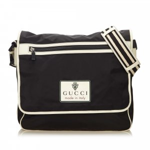Gucci Striped Nylon Messenger Bag