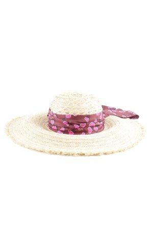 Gucci Cappello di paglia motivo grafico stile casual