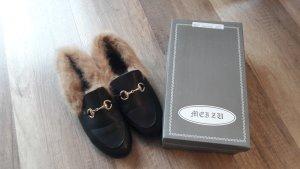 Gucci Style Loafer Loafers Jordaan Horsebit Fell Fur Slipper Slipons Pelz