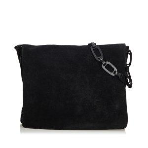 Gucci Sac porté épaule noir daim