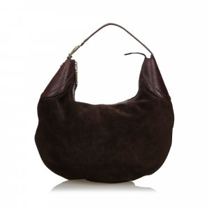 Gucci Suede Glam Hobo Bag