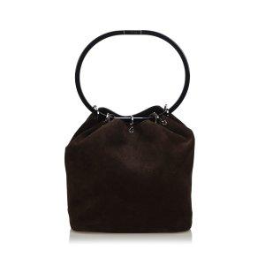 Gucci Suede Hoop Handbag