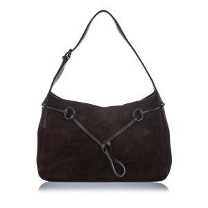 Gucci Suede Horsebit Shoulder Bag