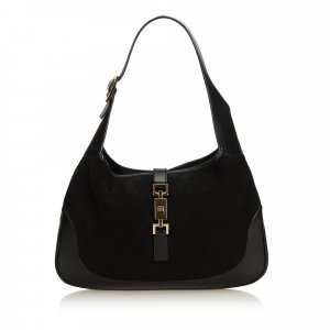 Gucci Shoulder Bag black suede