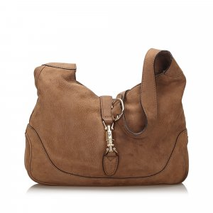 Gucci Suede New Jackie Shoulder Bag
