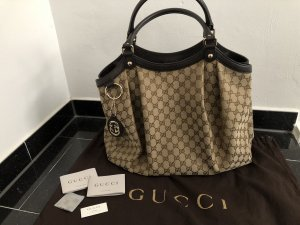 Gucci Shopper bronze-colored-brown cotton