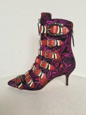 Gucci, Susan Jacquard Buckle Bootie, Purple, 38,5, neu, € 1.800,-