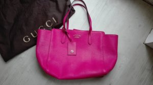 Gucci Shopper magenta-pink leather