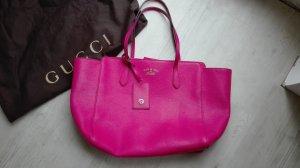 Gucci Borsa shopper magenta-rosa Pelle
