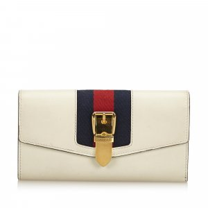 Gucci Sylvie Leather Continental Long Wallet