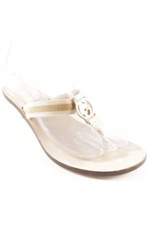 Gucci T-Strap Sandals cream-gold-colored casual look