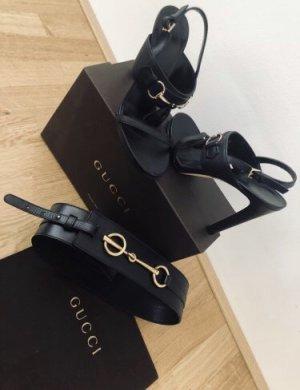 Gucci Ceinture de taille noir-doré