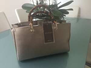 Gucci Tasche Boston Bamboo in Beige/Gold-Neu-