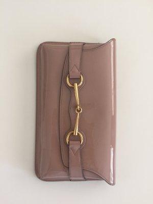Gucci Tasche Clutch original nude beige Lackleder