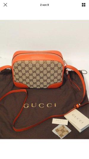 Gucci Borsa a spalla arancione-beige