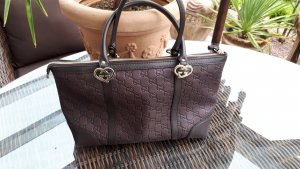 Gucci Shopper dark brown leather