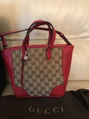 Gucci Tasche Handtasche Umhängetasche Tragetasche braun rot Original und Neu