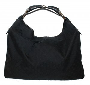 Gucci Pouch Bag black textile fiber