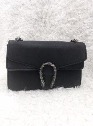 Gucci Sac porté épaule noir-argenté