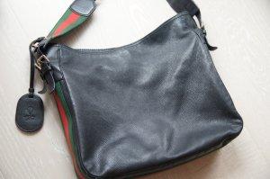 GUCCI Tasche, Leder- Handtasche schwarz