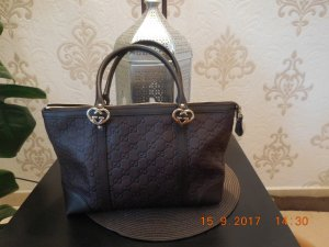 Gucci Carry Bag dark brown-gold-colored