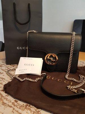 Gucci Sac à main noir cuir