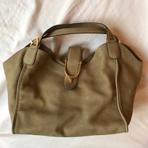 Gucci Bolso barrel color bronce-marrón arena Cuero