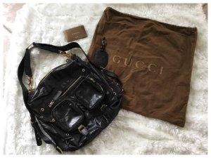 #Gucci #Tasche #schwarz #gold #Leder #Original