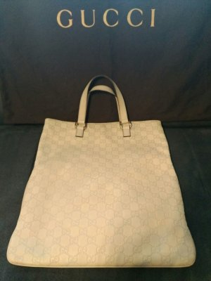 GUCCI Tasche/Shopper cremeweiss Leder Logoprint TOP!!!
