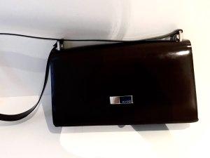 Gucci Bolsa de hombro marrón oscuro-marrón-negro Imitación de cuero