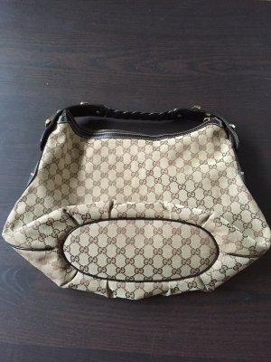 Gucci Shoulder Bag dark brown-beige