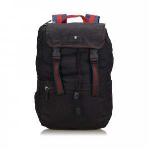 Gucci Techno Web Canvas Backpack