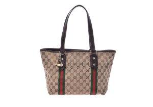 Gucci Handtas bruin Textielvezel