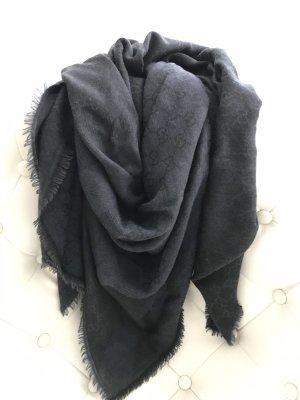Gucci Châle gris anthracite-gris foncé