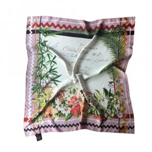 Gucci Tuch aus Seide, Mehrfarbig, Blumenmuster 90x90 cm, NEU!