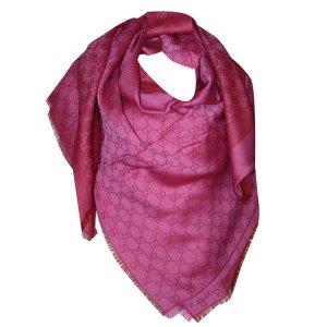 Gucci Tuch aus Wolle und Seide, Pink