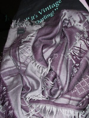 Gucci Kerchief lilac-silver-colored mixture fibre
