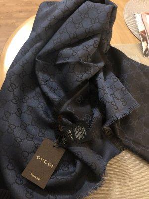 Gucci Silk Scarf dark blue