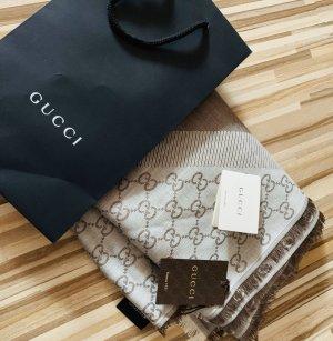 Gucci Zijden sjaal lichtbruin-beige
