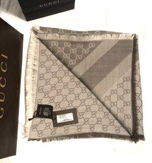 Gucci Tuch Schal, grau-braun, neu