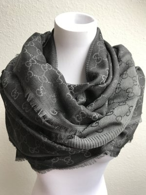 Gucci Scarf anthracite-dark grey wool