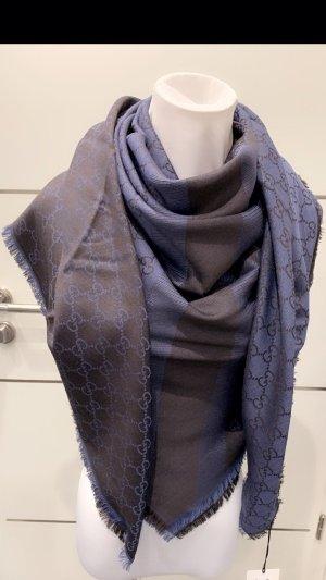 Gucci Wollen sjaal donkerblauw-antraciet