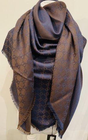 Gucci Wollen sjaal bruin-blauw