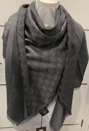 Gucci Wollen sjaal antraciet-donkergrijs