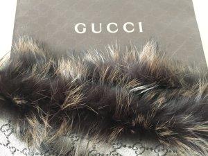 Gucci Tuch Schultertuch ALLOVER GG -LOGO braun * Glamour *