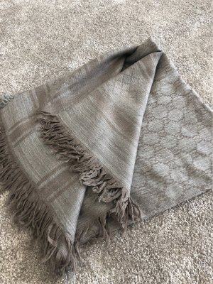 Gucci Shoulder Scarf grey brown
