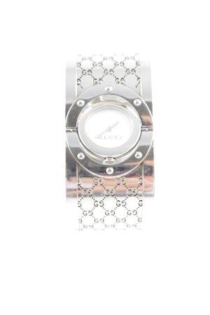 Gucci Orologio con cinturino di metallo argento-bianco stile professionale